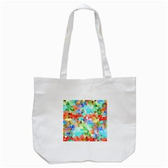 Colorful Mosaic  Tote Bag (white) by designworld65