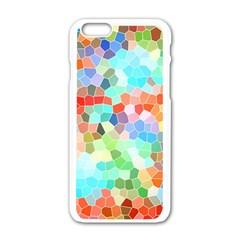 Colorful Mosaic  Apple Iphone 6/6s White Enamel Case by designworld65