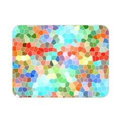 Colorful Mosaic  Double Sided Flano Blanket (mini)  by designworld65