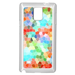 Colorful Mosaic  Samsung Galaxy Note 4 Case (white) by designworld65