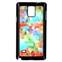 Colorful Mosaic  Samsung Galaxy Note 4 Case (black) by designworld65