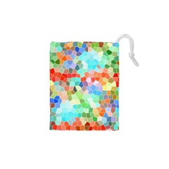 Colorful Mosaic  Drawstring Pouches (XS)  by designworld65