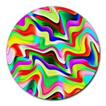 Irritation Colorful Dream Round Mousepads