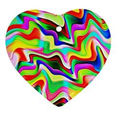 Irritation Colorful Dream Ornament (heart)  by designworld65