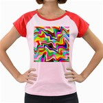 Irritation Colorful Dream Women s Cap Sleeve T-Shirt