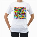 Irritation Colorful Dream Women s T-Shirt (White) (Two Sided)
