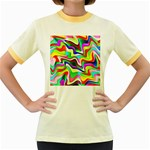 Irritation Colorful Dream Women s Fitted Ringer T-Shirts