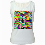Irritation Colorful Dream Women s White Tank Top