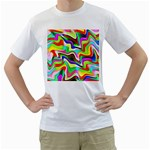 Irritation Colorful Dream Men s T-Shirt (White) (Two Sided)