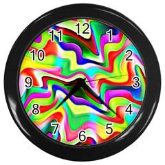 Irritation Colorful Dream Wall Clocks (black) by designworld65