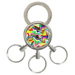 Irritation Colorful Dream 3-Ring Key Chains