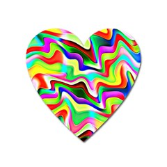 Irritation Colorful Dream Heart Magnet by designworld65