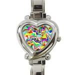 Irritation Colorful Dream Heart Italian Charm Watch