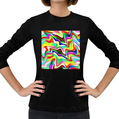 Irritation Colorful Dream Women s Long Sleeve Dark T Shirts by designworld65