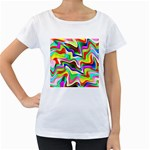 Irritation Colorful Dream Women s Loose-Fit T-Shirt (White)