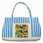 Irritation Colorful Dream Striped Blue Tote Bag