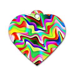 Irritation Colorful Dream Dog Tag Heart (one Side) by designworld65