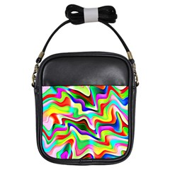 Irritation Colorful Dream Girls Sling Bags by designworld65