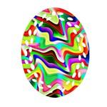 Irritation Colorful Dream Ornament (Oval Filigree)
