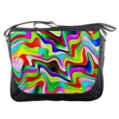 Irritation Colorful Dream Messenger Bags by designworld65