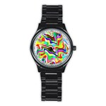 Irritation Colorful Dream Stainless Steel Round Watch
