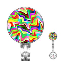 Irritation Colorful Dream Stainless Steel Nurses Watch by designworld65