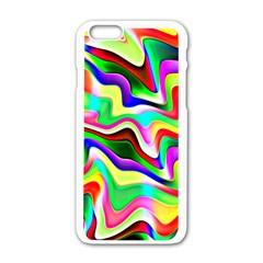 Irritation Colorful Dream Apple Iphone 6/6s White Enamel Case by designworld65