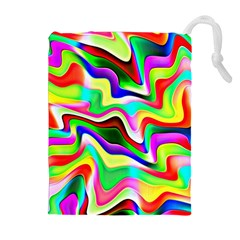 Irritation Colorful Dream Drawstring Pouches (extra Large) by designworld65