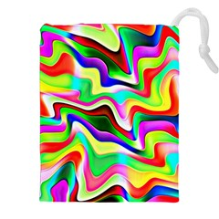 Irritation Colorful Dream Drawstring Pouches (XXL) by designworld65