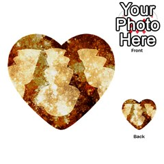 Sparkling Lights Multi Purpose Cards (heart)  by yoursparklingshop