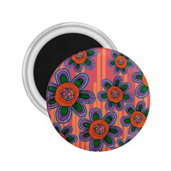 Colorful Floral Dream 2 25  Magnets by DanaeStudio