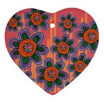 Colorful Floral Dream Ornament (Heart)