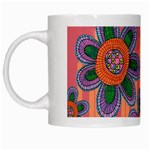 Colorful Floral Dream White Mugs