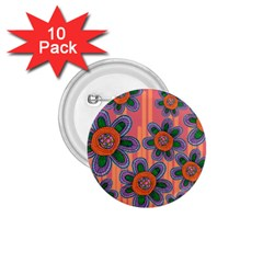 Colorful Floral Dream 1 75  Buttons (10 Pack) by DanaeStudio