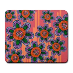 Colorful Floral Dream Large Mousepads by DanaeStudio
