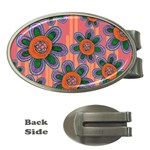 Colorful Floral Dream Money Clips (Oval)