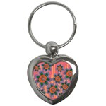 Colorful Floral Dream Key Chains (Heart)