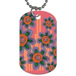 Colorful Floral Dream Dog Tag (One Side)