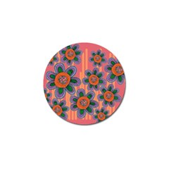 Colorful Floral Dream Golf Ball Marker by DanaeStudio