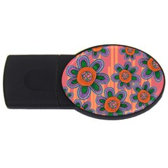 Colorful Floral Dream Usb Flash Drive Oval (2 Gb)  by DanaeStudio