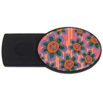 Colorful Floral Dream USB Flash Drive Oval (2 GB)