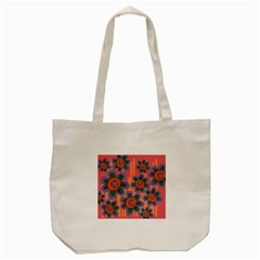 Colorful Floral Dream Tote Bag (cream) by DanaeStudio
