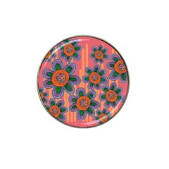 Colorful Floral Dream Hat Clip Ball Marker (4 Pack) by DanaeStudio