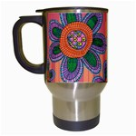 Colorful Floral Dream Travel Mugs (White)