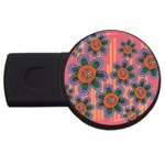 Colorful Floral Dream USB Flash Drive Round (4 GB)