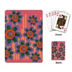 Colorful Floral Dream Playing Card