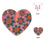 Colorful Floral Dream Playing Cards (Heart)
