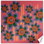 Colorful Floral Dream Canvas 20  x 20