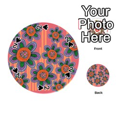 Colorful Floral Dream Playing Cards 54 (round)  by DanaeStudio