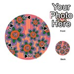 Colorful Floral Dream Playing Cards 54 (Round)